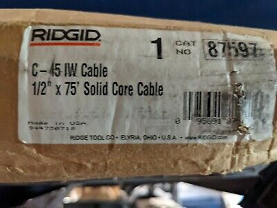 Ridgid C-45 12 In. X 75 Ft. Integral-wound Solid-core Drain Cleaning Cable