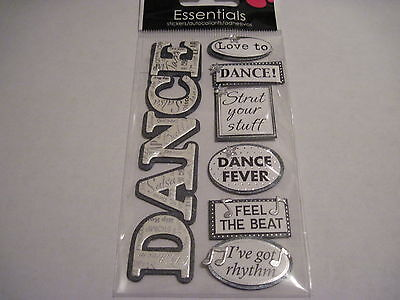 Scrapbooking Stickers Sandylion Dimensional Dance Sayings Fever Love To Strut ()