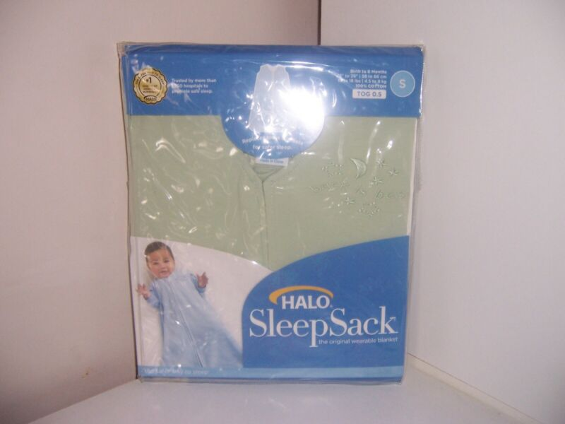 Halo Wearable Blanket sleep sack Green size small 100% cotton New