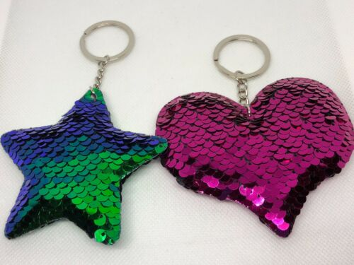 Keychains pink heart or green/purple star gift You get 1 fun #52
