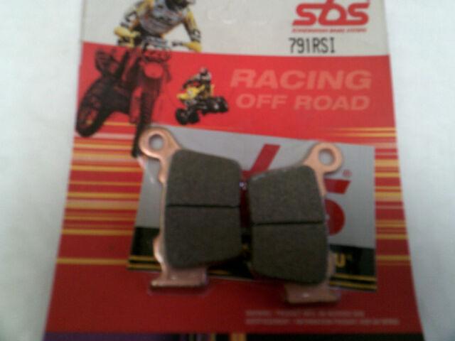 HUSQVARNA TE 250 (4T) 2012 SBS REAR BRAKE PADS Off Road Enduro MX  Sinter 791RSI