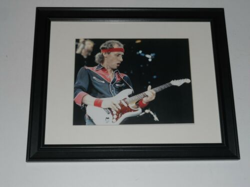 "Framed Mark Knopfler Dire Straits 1980 on Stage w/ Guitar Print 13""x16"""