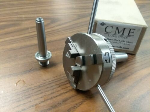 "2"" /50mm 3-jaw mini lathe chuck w MT1 & MT2 arbors #0203MT12"