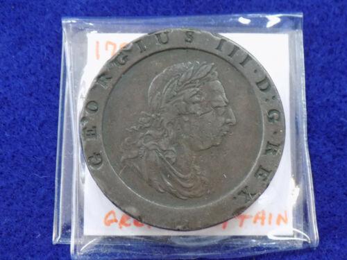 1797 GREAT BRITAIN 2 PENCE COPPER BRITANNIA
