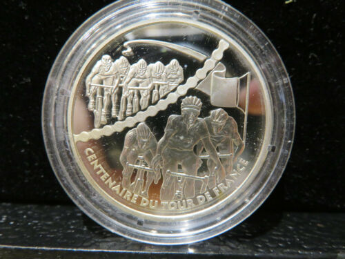 2003 Centennial of the Tour de France Sprint Silver Proof .900 FS 22.2 g Z088