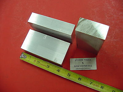 3 Pieces 1 X 2 Aluminum 6061 Flat Bar 4 Long Solid Plate Mill Stock 1.00x 2