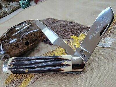 VTG QUEEN CUTLERY COMPANY USA WINTERBOTTOM DELRIN #40 UTILITY JACK KNIFE MINT