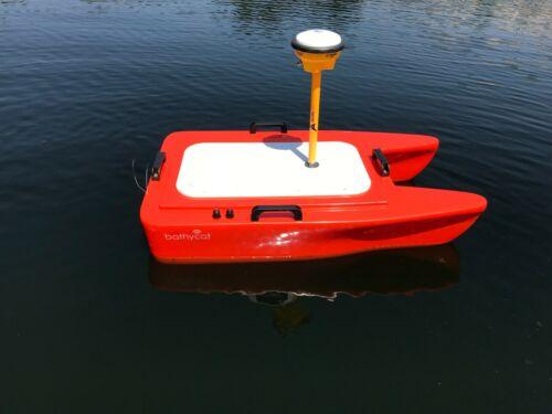 USV autonomous RC unmanned survey boat single beam echo sounder sonar drone