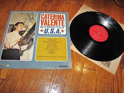 CATERINA VALENTE - STRICTLY U.S.A. - LONDON RECORDS MONO LP LL 3307