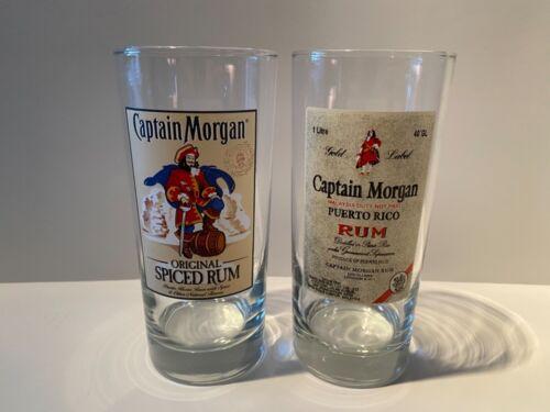 CAPTAIN MORGAN Cocktail Glass Set of 2 Graphic Labels