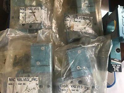 Lot Of 5 Mac 180029-18-111d Pneumatic Solenoid Valve New
