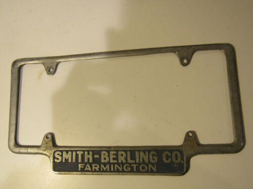 Smith-Berling Co. Farmington Oversize metal Dealership License Plate Frame old