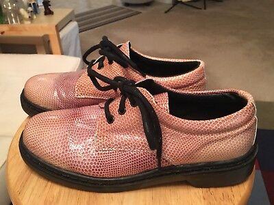 Topshop 32K 14H Reptile Print Beige Women's EU40 US9.0 Spain Lace Up Shoes