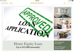 Fast Home Equity Loan with No Appraisal or Legal Fees