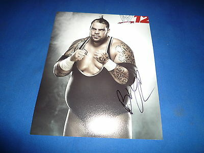 BRODUS CLAY  signed Autogramm 20x25 In Person WWE