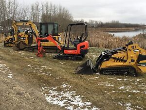 Mini excavator and track loader for hire  Excavation trenching Edmonton Edmonton Area image 1