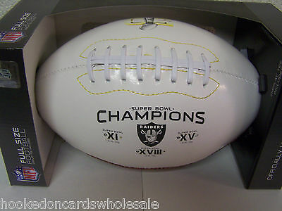 Oakland Raiders 3 Time Super Bowl Champs On The Fifty Commemorative Football