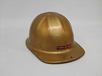 Vintage Mcdonald Aluminum Mine Caphard Hat Standard Mine Safety Appliances