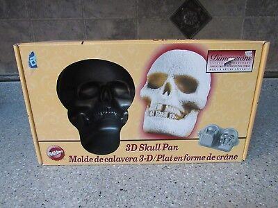Wilton Cake Mold Skeleton Skull Non Stick Surface Halloween 3D Cake Heavy Pan (3d Halloween Skull Cake Pan)