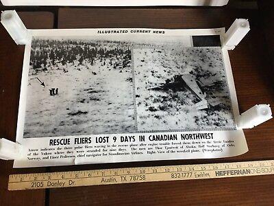 Illustrated Current News Photo - Rescue Crew Lost Canadian Northwest Yukon