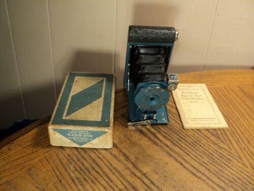 Vintage Rainbow Hawk Eye Vest Pocket Camera w/ Original Box & Instructions