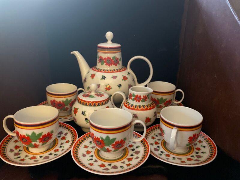Vintage Heinrich Demitasse/Tea Set-Gypsy Pattern, Set For 5