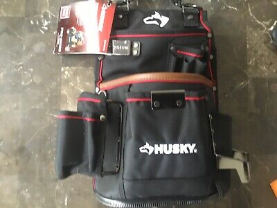 NEW Husky 2-Pocket Framer Tool Pouch with Leather 1001 075 711 pro grade