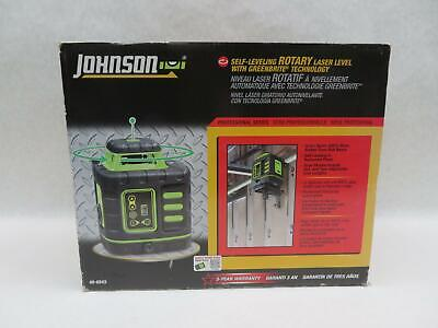 Johnson 40-6543 Self-leveling Rotary Laser Level W Greenbrite Technology