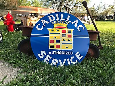 Antique Vintage Old Look Cadillac Porcelain Look Sign. FREE SHIPPING