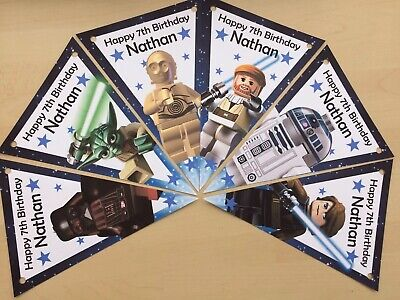 Personalised Lego Star wars bunting / party decoration / birthday