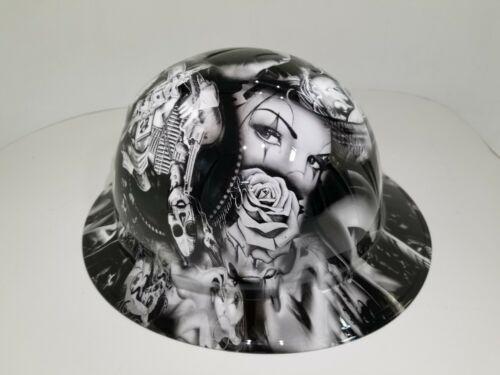 FULL BRIM Hard Hat custom hydro dipped in NO LOVE ALL HUSTLE HOT WHITE HOT NEW 3