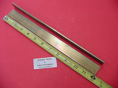 2 Pieces 18x 34 C360 Brass Flat Bar 12 Long Solid Plate Mill Stock H02 .125