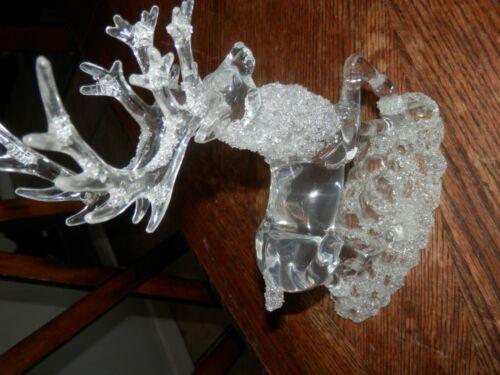 Large clear Acrylic Reindeer Christmas Decor, 9.5 inches High