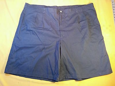 Cedar Fair 52 Mens Pleated Blue Polyester Cotton Casual Dress Shorts