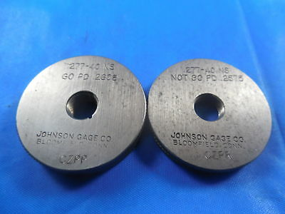 .277 40 Ns Thread Ring Gages 0.277 Go No Go P.d.s .2608 .2575 Inspection