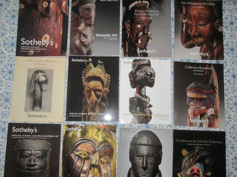 BULK Lot 12x reference books Sotheby catalogs on African Tribal & Oceania art