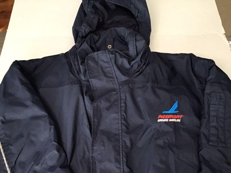 Vintage Piedmont Airlines Airport Ramp Ground Handling Uniform Coat Jacket XL