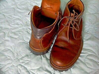 JOSEF SEIBEL  Mens Brown Leather Ankle Boots Size 42 vgc Chelsea style