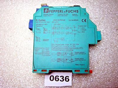 .KU844 Pepperl Fuchs Trennschaltverstärker KFA6-SOT2-Ex2 KFA6-ST02-Ex2