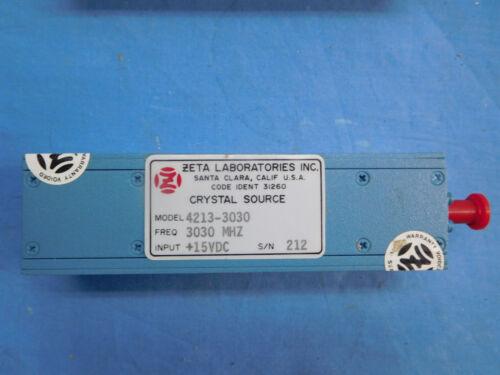 Zeta 4213-3030 3030MHz +15VDC Crystal Source SM-C-740454
