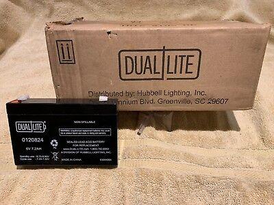Unopened Case Of 8 - Dual Lite 0120824 Approved 6-volt 7-7.2ah 3.4-amp