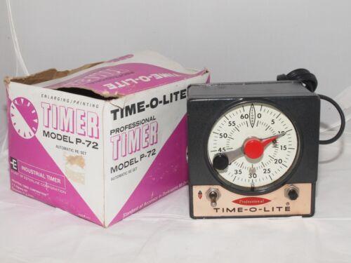 Time-O-Lite P-72  60 second enlarging timer.Tested. Clean w/box. Omega, Beseler