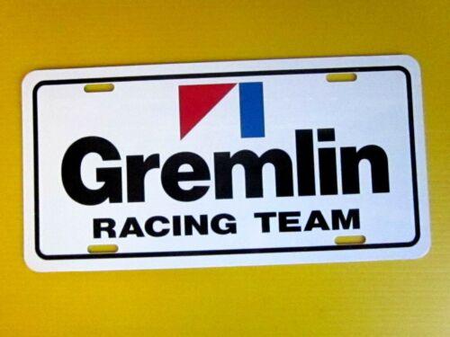 AMC GREMLIN RACING TEAM License Plate Tag 1970 1971 1972 1973 1974 1975 1976 77