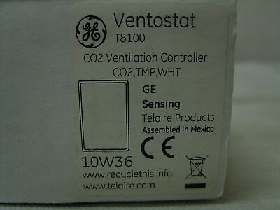 GE General Electric Telaire Ventostat CO2 Humidity Ventilation Controller T8100