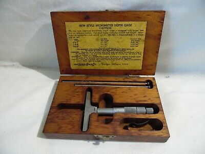 Vintage Lufkin Rule Co New Style Micrometer Depth Gauge No 531n Wcase Usa Made