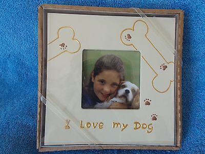 I Love My Dog  Picture Frame  New  Hand Painted ()