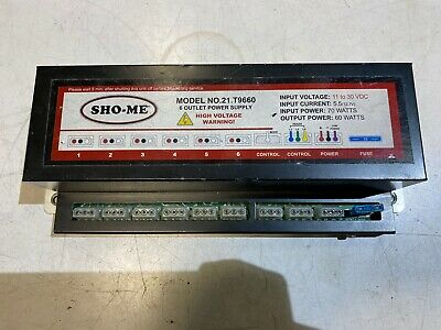 Sho-me 21.t9660 6 Outlet Strobe Light Power Supply Input 70woutput 60w