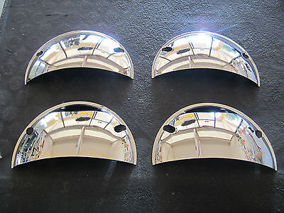 5 3/4 HEADLIGHT HEADLAMP CHROME TRIM HALF MOON COVERS ANY CAR OR TRUCK