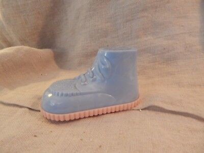 Vintage Boot Shaped Plastic Baby Bank First Federal Savings
