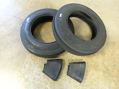 Two New 6.00-16 Carlisle Tri-rib 3 Rib Front Tractor Tires Usa Made With Tubes